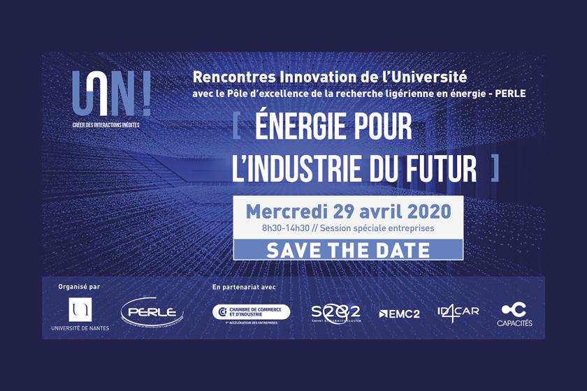 Rencontre Innovation «Energie pour l'industrie du futur»